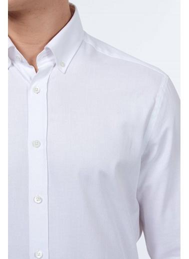 Hemington Uzun Kollu Klasik Gömlek Beyaz